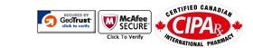 Quality Prescription Drugs is certified by Pharmacy Checker, CIPA, McAfee, and GeoTrust